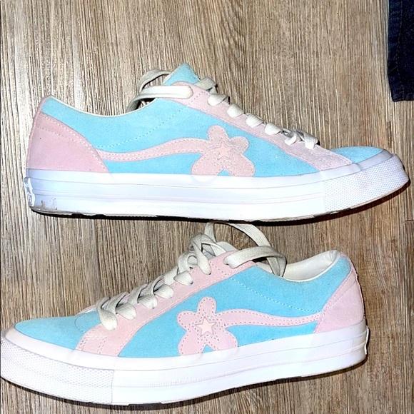 Golf Le Fleur/Converse one-star Ox Light blue/pink